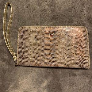 Wristlet phone holder and wallet